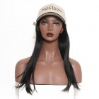 Brazilian Virgin Human Hair with Cap Straight Hair Glueless wigs