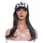 Brazilian Virgin Human Hair with Black Cap Straight Hair Glueless wigs