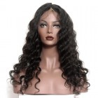 Bleached Knots Pre-Plucked Natural Hair Line 360 Lace Frontal Wigs 150% Density Loose Wave Human Hair Wigs - UUHair