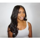 Pre-Plucked Natural Hair Line 360 Lace Wigs Brazilian Hair Wigs Body Wave 180% Density Bleached Knots - UUHair