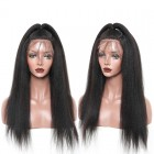 Brazilian Lace Wigs Light Yaki 100% Human Hair Wigs Natural Color bleached knots can by dyed and bleached