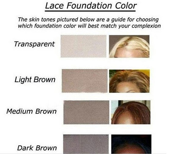 UUHair lace color chart
