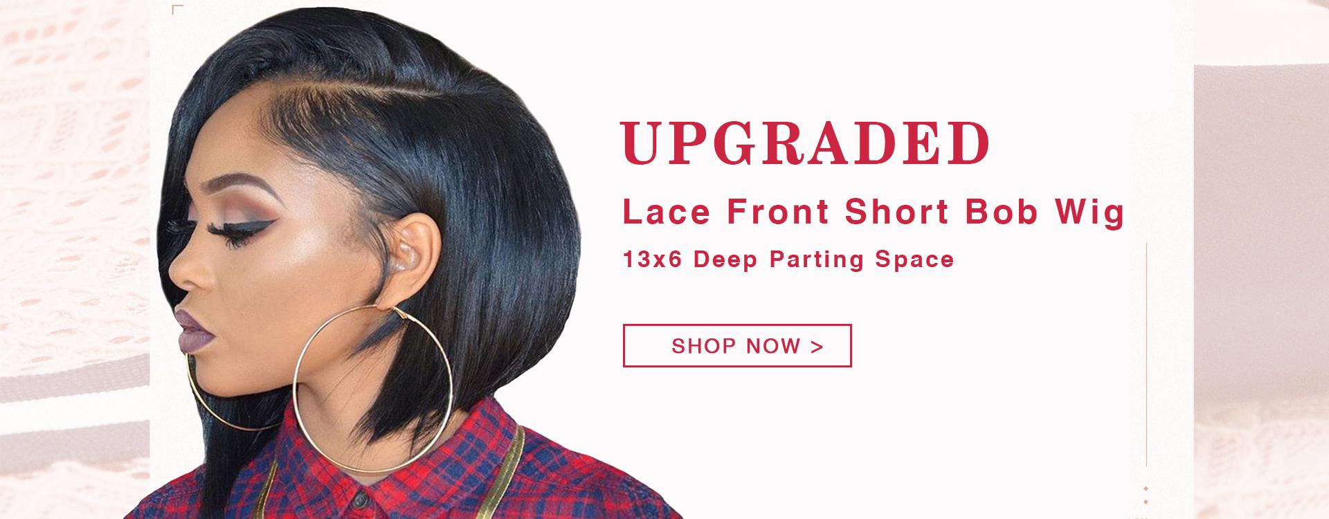 13*6 bob lace front wig